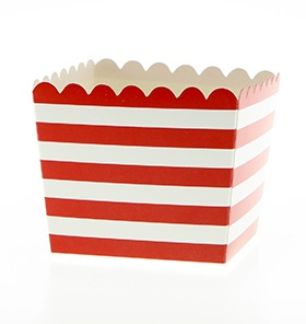 Red Scallop Favour Box