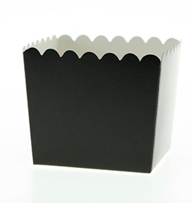 Black Scallop Favour Box