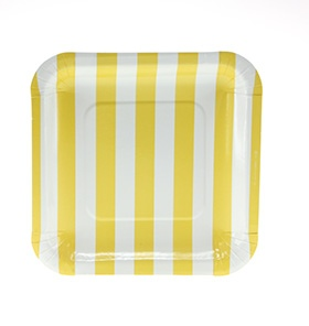 Yellow Square Plates