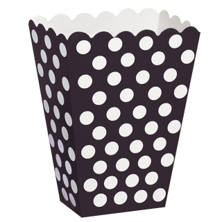 Black Polka Dot Popcorn Boxes