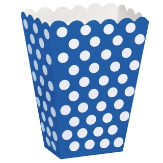 Blue Polka Dot Popcorn Boxes