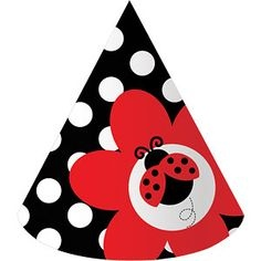 Lady Bug Party Hats - 8 Pack