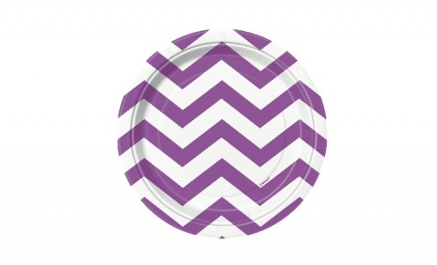 Purple Chevron Lunch Plates