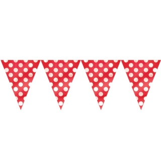 Red Polkadot Banner Flags