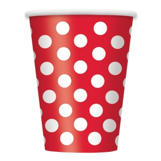 Red Polka Dot Cups