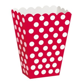 Red Polka Dot Popcorn Boxes