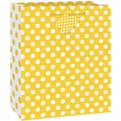 Yellow Polka Dot Gift Bag